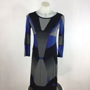 Bcbgmaxazria Dawson LongSleeve Graphic Shift Dress